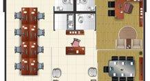 Juncao de 2 tipos de sala - Buena Vista Premium Office
